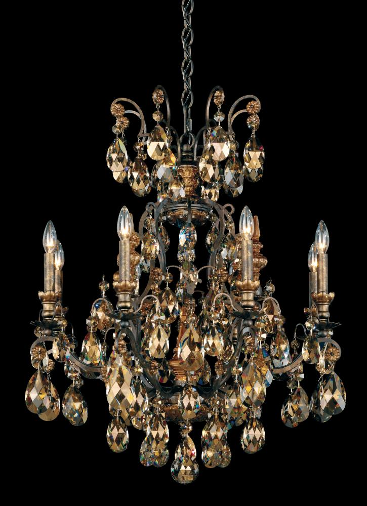Renaissance 9 Light 110v Chandelier In Antique Silver With