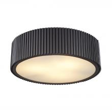 Elk 11445//3 3-Light Flush Mount with Frosted Glass Diffuser Shade 17 by 6-Inch Polished Chrome Finish